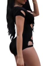 Plain Hollow Sexy One Piece Women's Swimwear