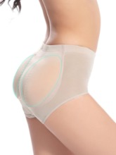 Women's Mid Waist Silicone Padded Hip Panty