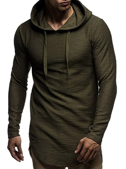 Plain Pullover Casual Mens Hoodies Plain Pullover Casual Men's Hoodies
