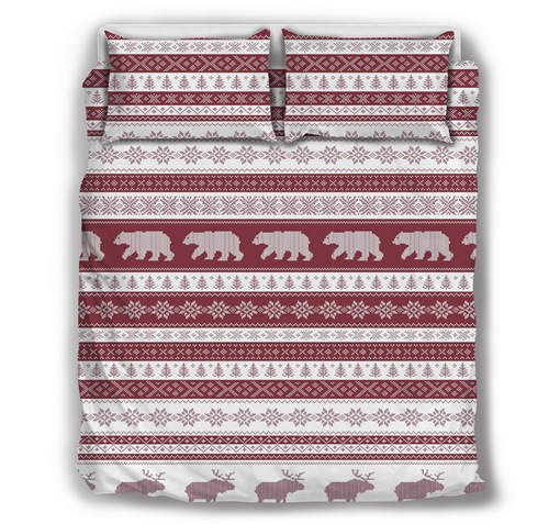 Cotton Christmas Three-Piece Set Comforter Set Machine Wash