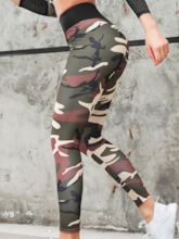 Camouflage Print Anti-Friction Women's Leggings