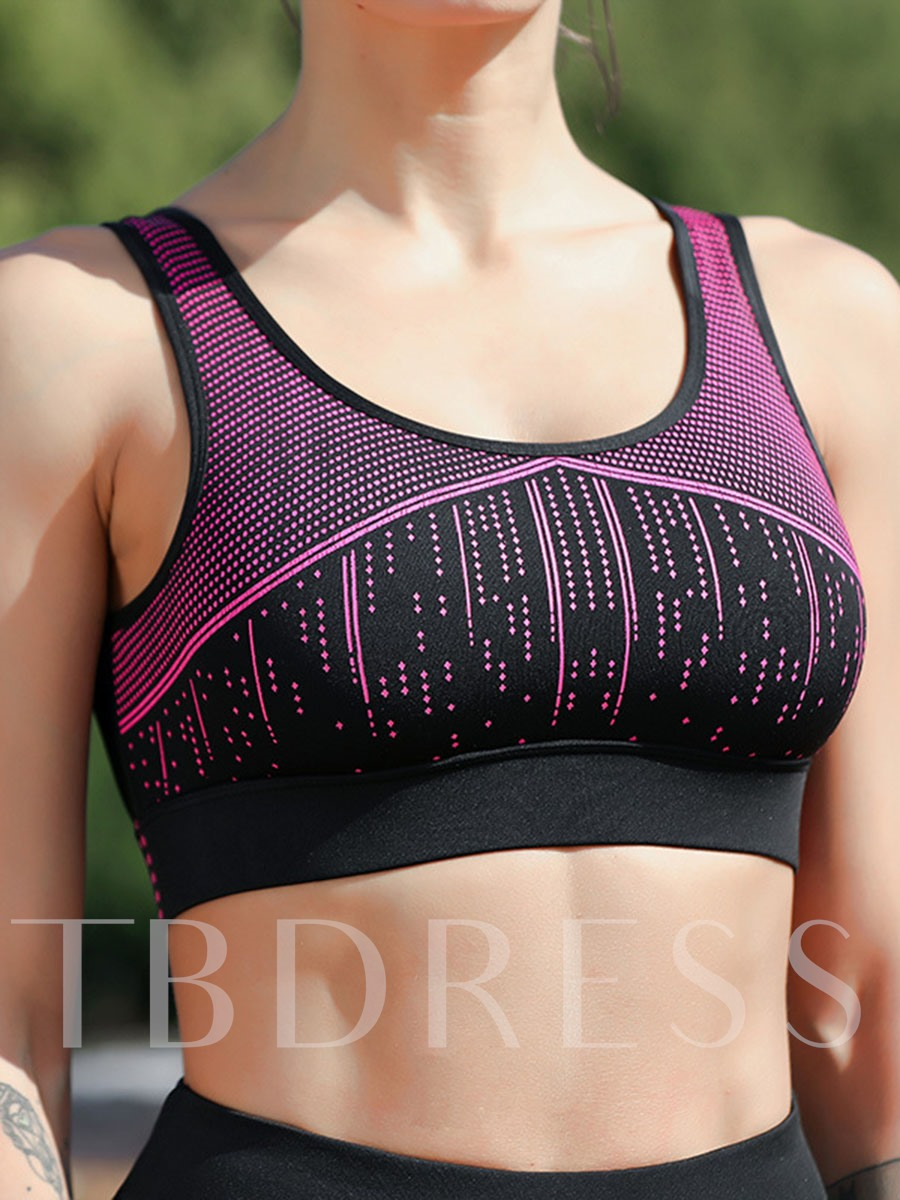 Print Color Block Breathable Sleeveless Women's Workout Set