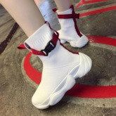 Round Toe Slip-On High Top Women's Sneaker
