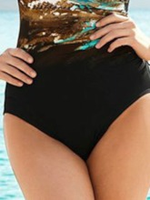 One Piece Beach Look Color Block Print Women's Swimwear