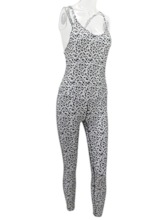 Print Leopard Breathable Pullover Sleeveless Women's Jumpsuit