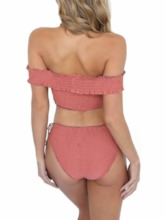 Tankini Set Sexy Pleated Plain Women's Swimwear