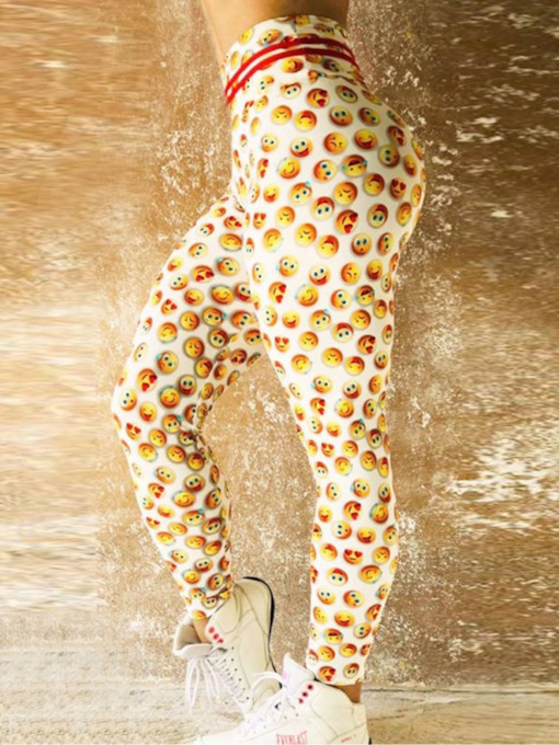 Emoticon Print Quick Dry Women's Leggings