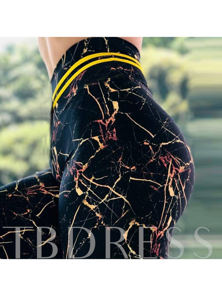 Quick Dry Print High Waist Women's Leggings