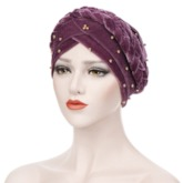 Velour Twisted Ethnic Spring Hats