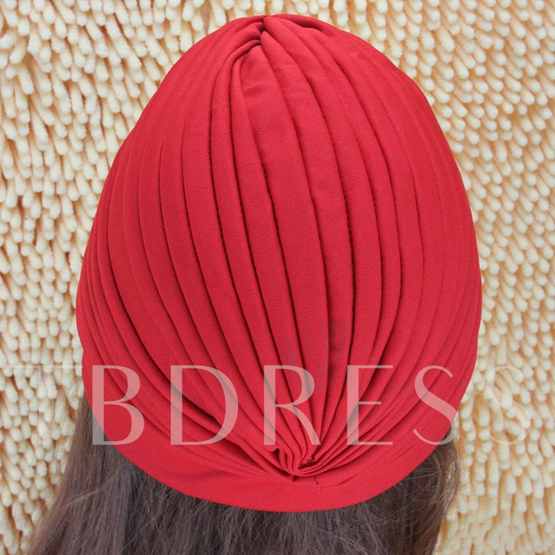Polyester Skullies & Beanies Pleated Fall Hats
