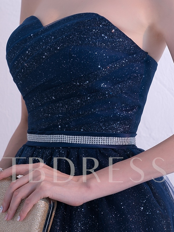 Knee-Length Sweetheart Beading Sequins Homecoming Dress 2019