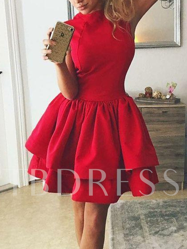 Sleeveless A-Line Ruched Short Homecoming Dress 2019