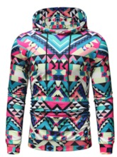 Thin Color Block Pullover Print Casual Men's Hoodies