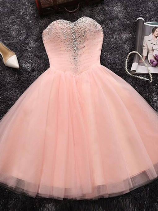 A-Line Knee-Length Sleeveless Pick-Ups Homecoming Dress 2019