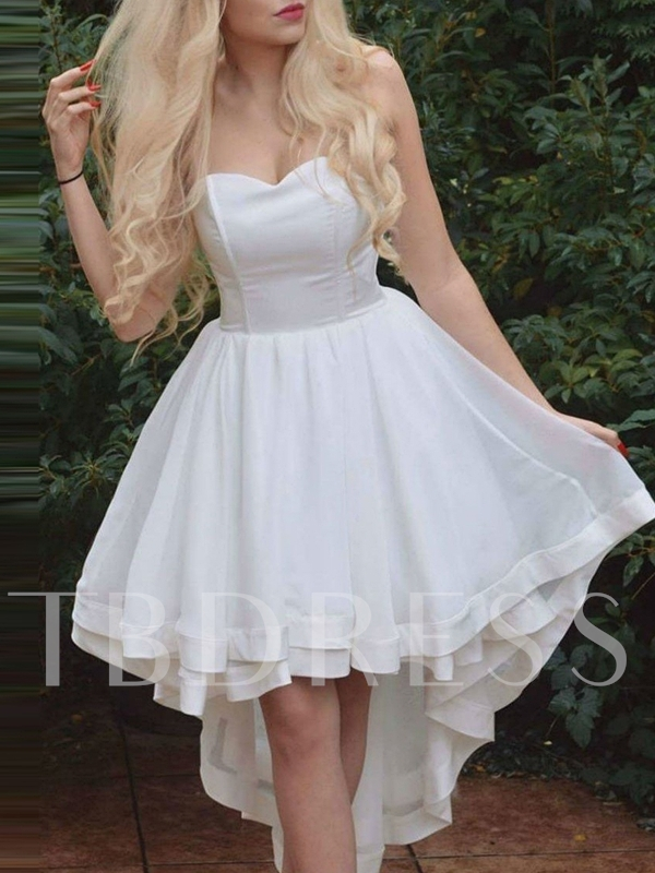 Sweetheart Sleeveless Asymmetry Hollow Homecoming Dress 2019