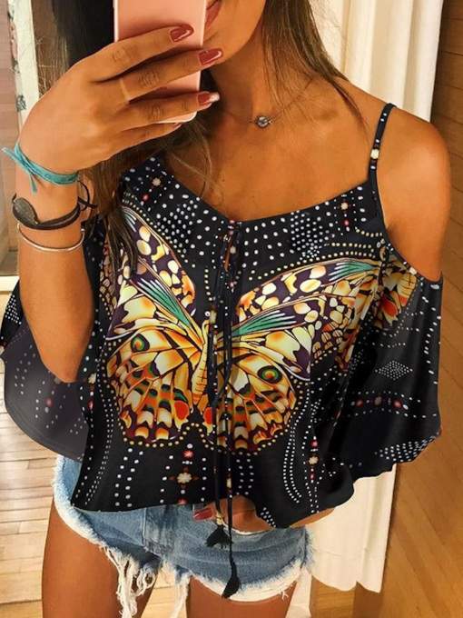 Print Animal Short Women's Blouse