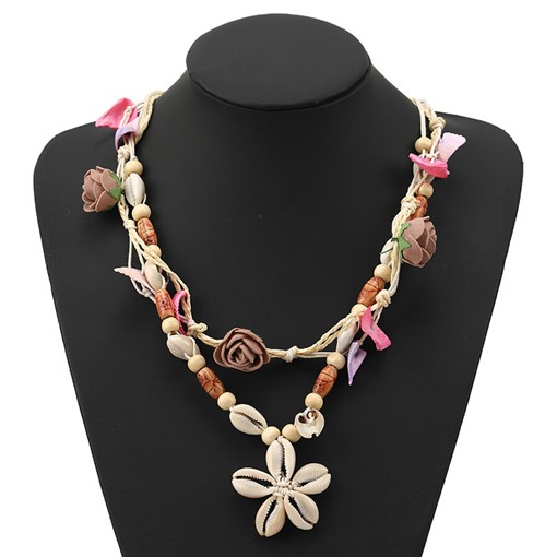 Pendant Necklace Sweet Floral Female Necklaces