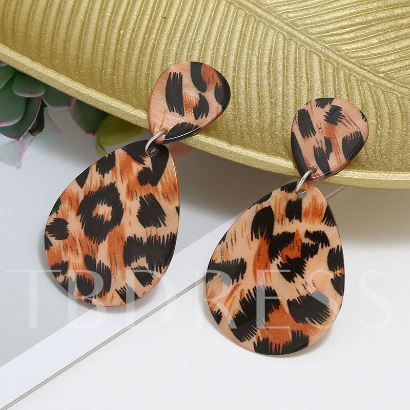 Leopard European Plastic Birthday Earrings