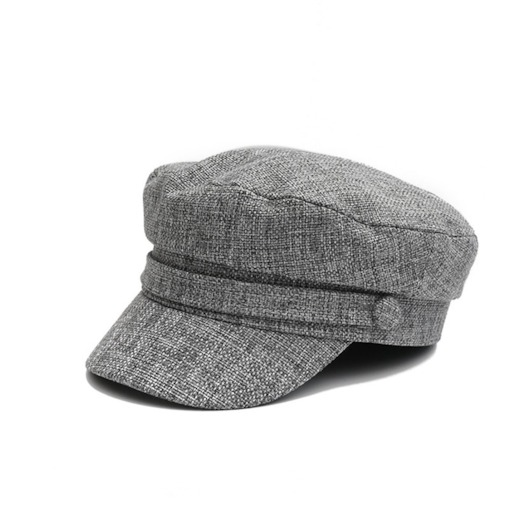 Plaid Sewing Thread Linen Casual Newsboy Cap