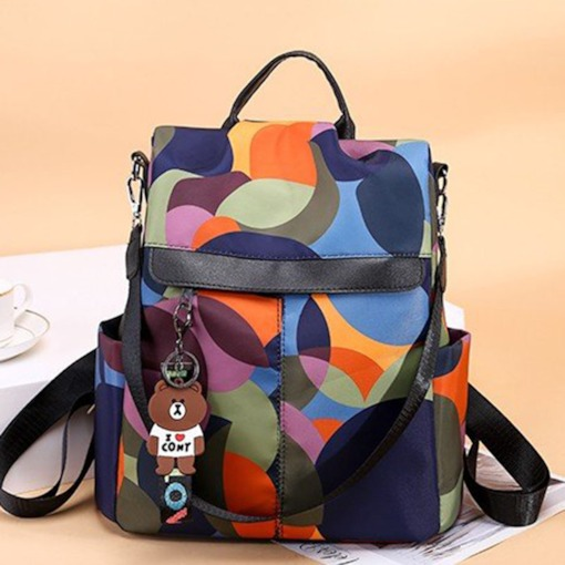 mochilas color block oxford