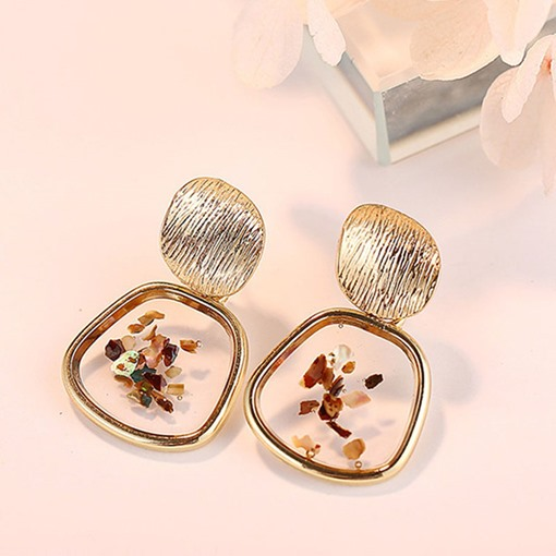 Vintage Shell Shape Alloy E-Plating Earrings