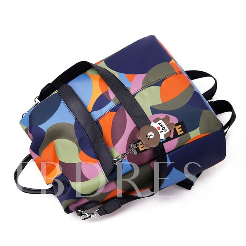 Color Block Oxford Backpacks