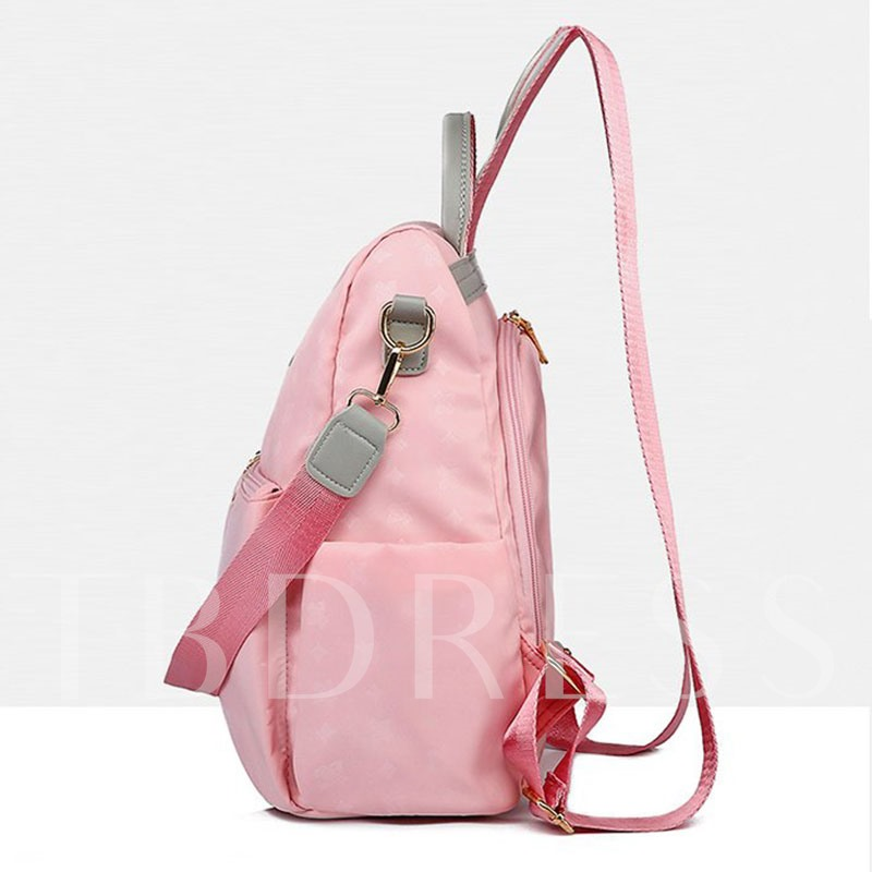 Nylon Thread Geometric Backpacks