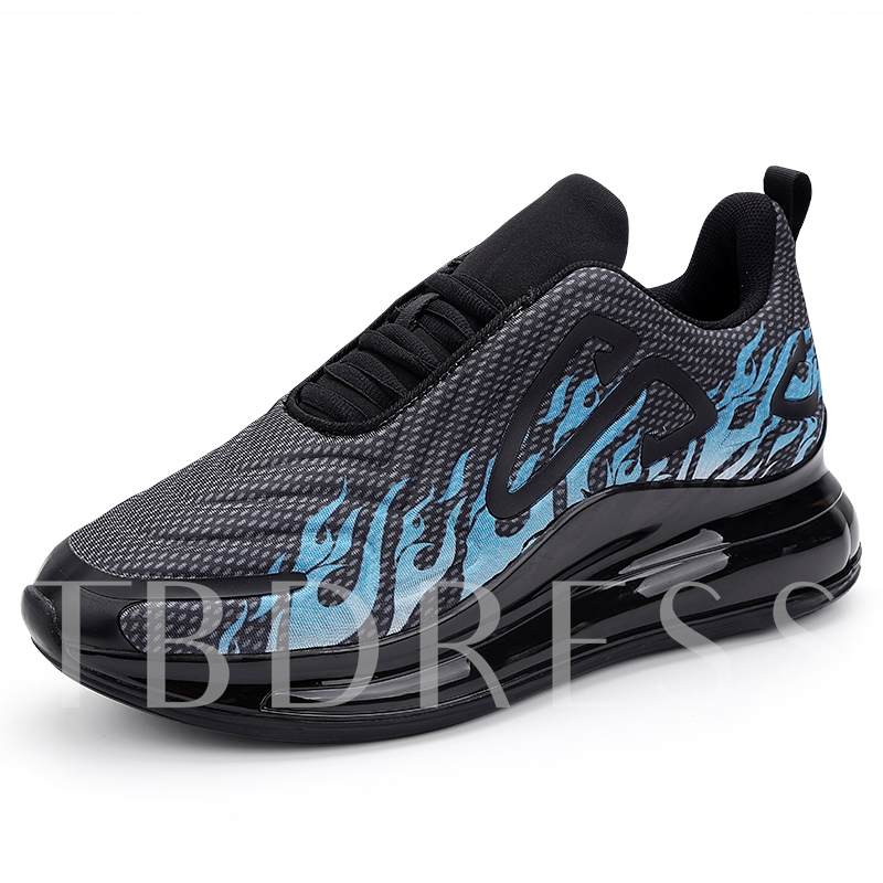 Platform Sports Lace-Up Round Toe Men's Sneakers