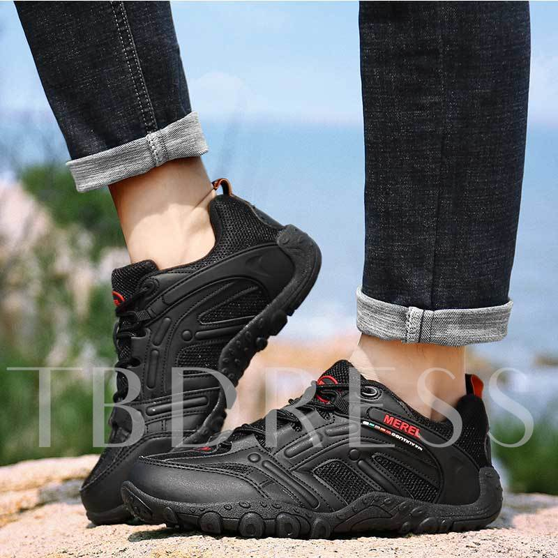 Lace-Up Round Toe Mesh Outdoor Men's Sneakers