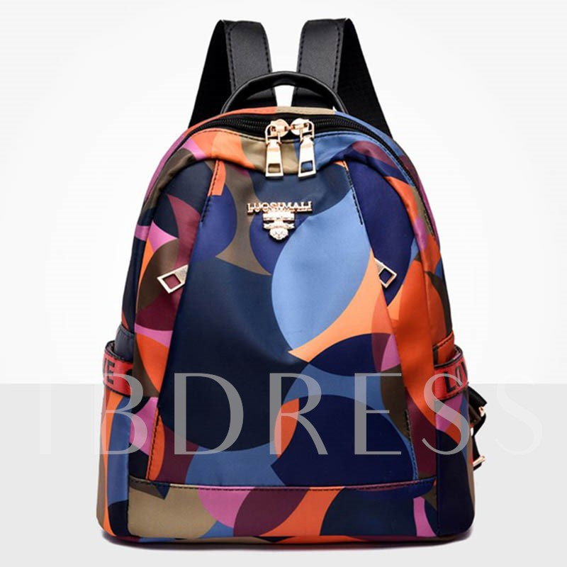 Oxford Color Block Backpacks