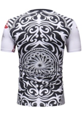 Casual Playing Cards Print Round Neck Color Block Short Sleeve Men's T-shirt