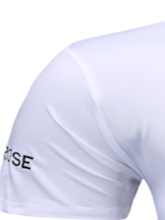 Fashion Embroidery Rose Letter Print Round Neck Casual Slim Men's T-shirt