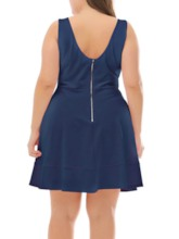 Plus Size Above Knee Sleeveless Summer Women's Dress