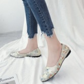 Pointed Toe Slip-On Floral Women's Flats