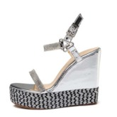 Buckle Open Toe Ankle Strap Women's Wedges Sandals
