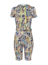 Western Serpentine Knee Length Pants Print Pencil Pants Women's Two Piece Sets