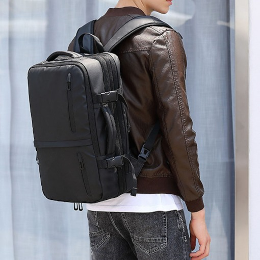 Man Laptop Backpack Computer Business Travel Bag