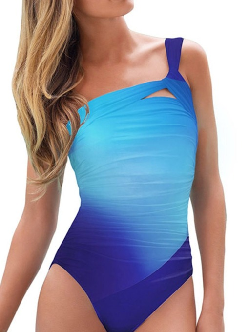 Hollow One Piece Sexy Gradient Women's Swimwear
