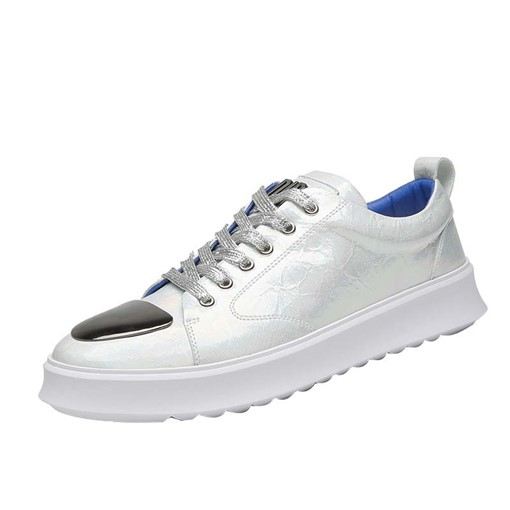 Lace-Up Color Block Round Toe Men's Skate Shoes