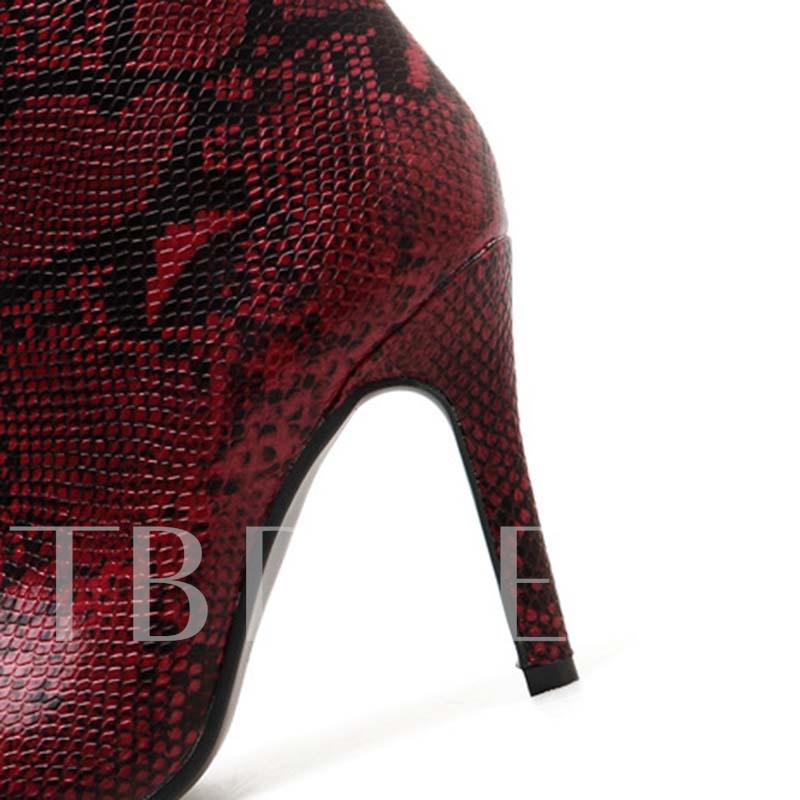 Stiletto Hee Serpentine Pointed Toe Women's Ankle Boots