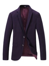 Fashion Notched Lapel Color Block Print Men's leisure Suit