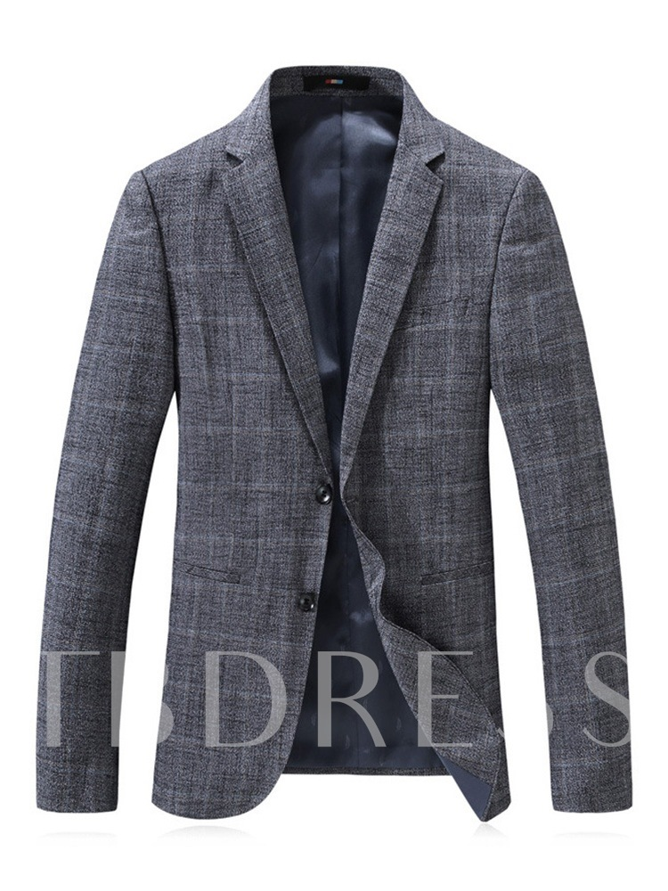 Notched Lapel Fashion Single-Breasted Slim Men's leisure Suit