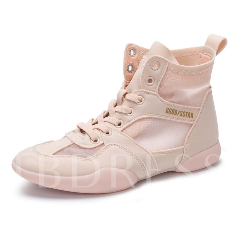 HighTop Round Toe Lace-Up Women's Sneakers