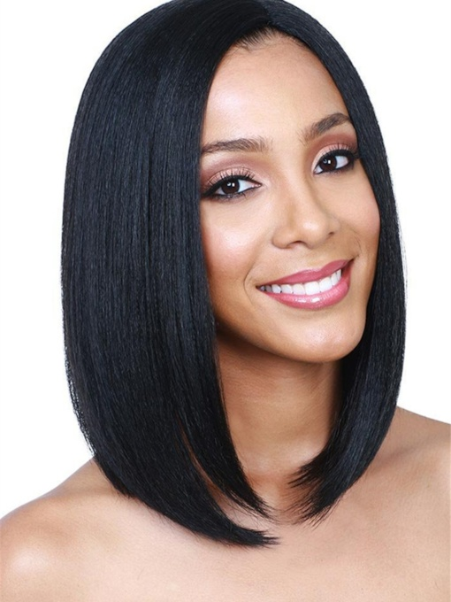 Women Capless Natural Straight 100% 14 Inches Wigs