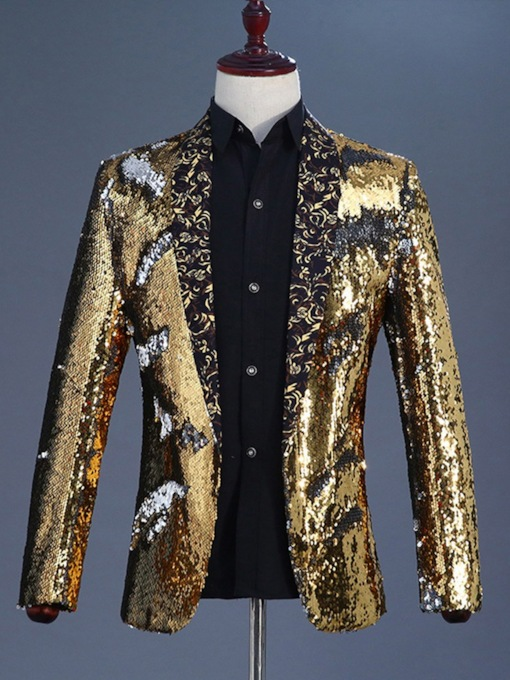 Wrapped European Sequins Slim Men's leisure Suit