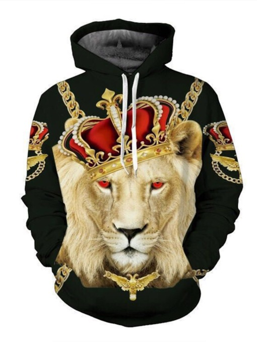 3D Pullover Animal Pullover Men's Hoodies