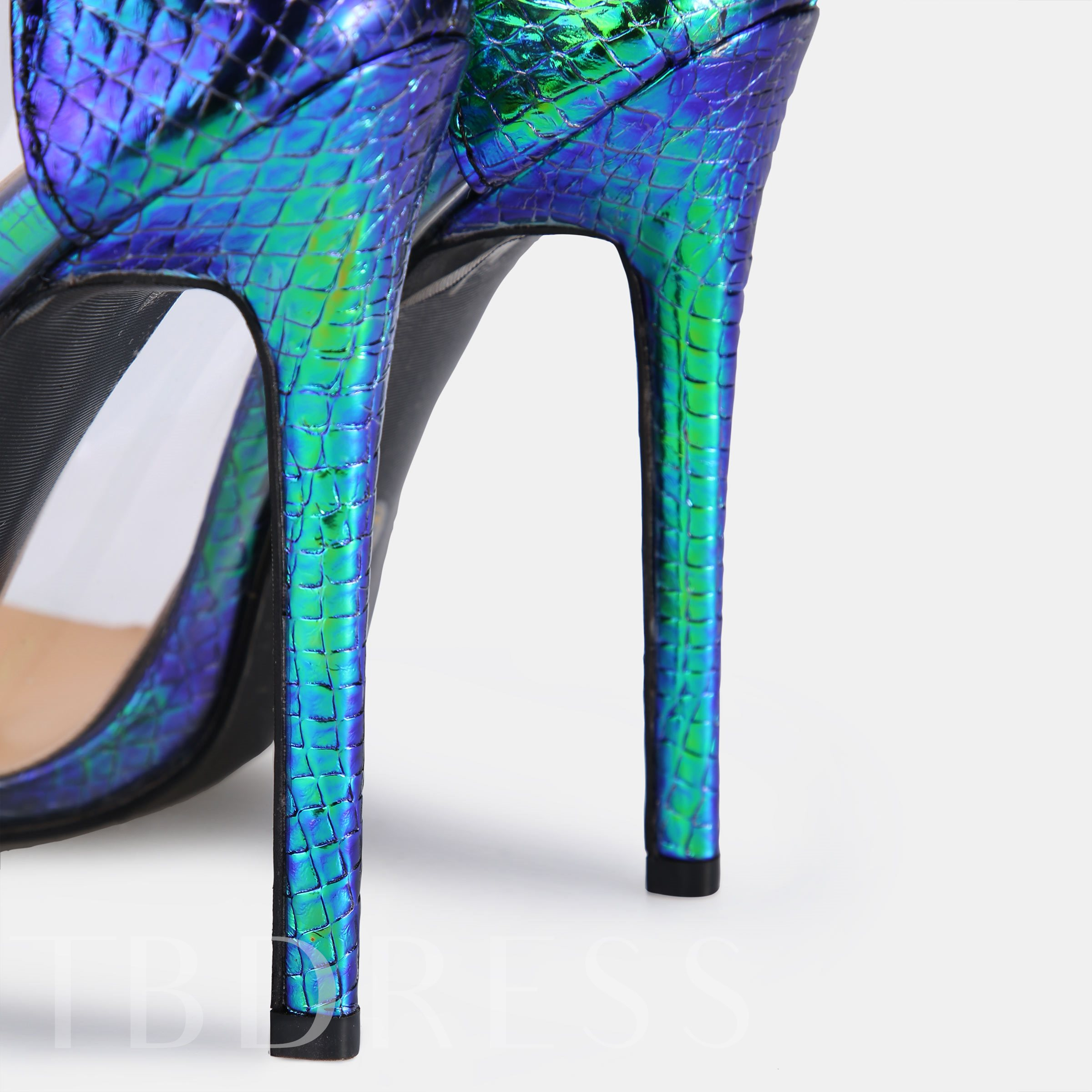 Pointed Toe Patchwork Stiletto Heels