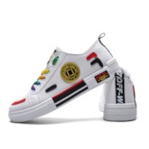 Lace-Up Color Block Round Toe Casual Men's Skate Shoes