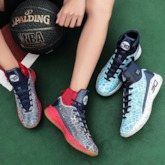 Sports Lace-Up Round Toe High Top Men's Sneakers