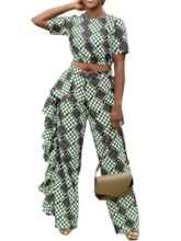 Fashion Pants Polka Dots Print Pullover Women's Two Piece Sets